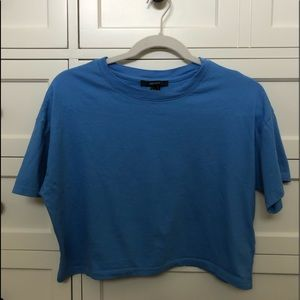 Blue crop top/t shirt